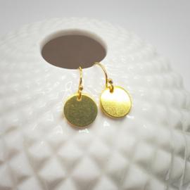 14k gold filled oorbellen met muntje