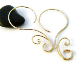14k gold filled swirl oorbellen