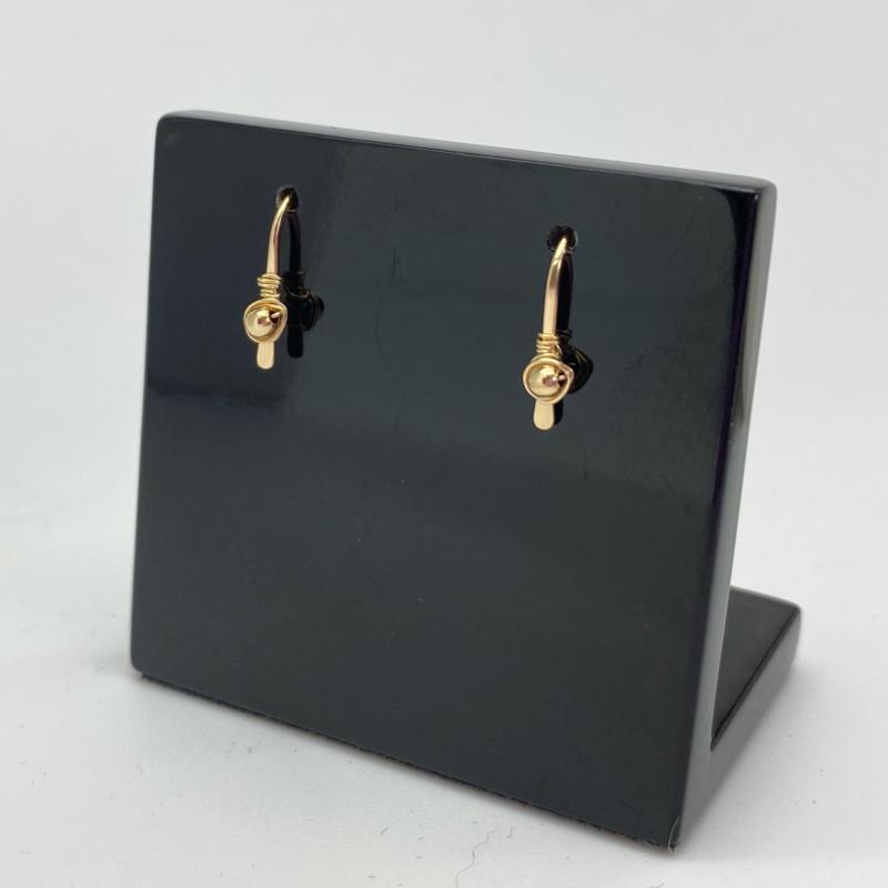 Kleine gold filled oorbellen