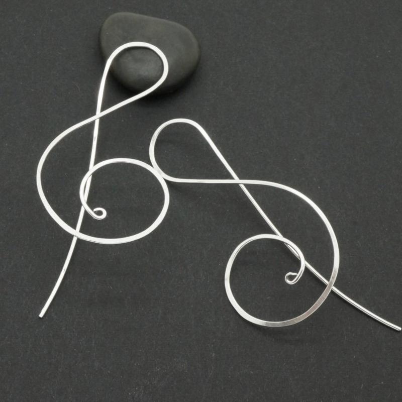 Sterling zilveren solsleutel oorbellen
