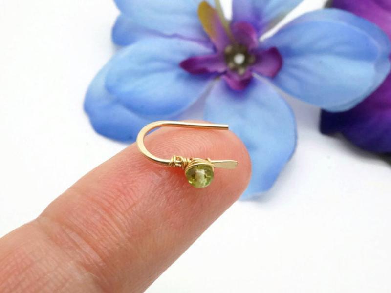 14k gold filled oorbellen met peridot