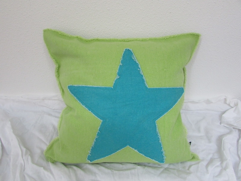 Star kussenhoes lime groen