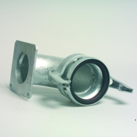 Bocht 90º met M-deel en flens Ø 108 - 216 mm