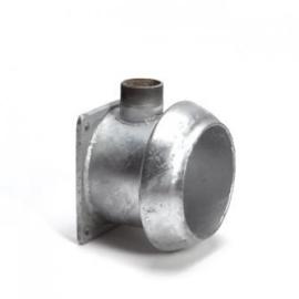 V-deel met flens en uitloop Ø 159 & 216 mm, verzinkt