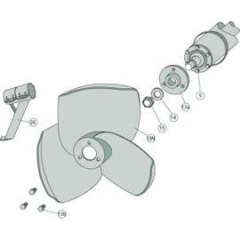Roerwerksteun, verzinkt, voor Ø 100 mm buis