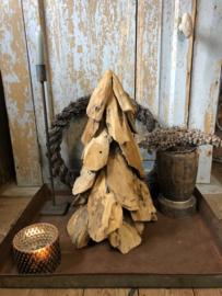 Stoere Houten Kerstboom