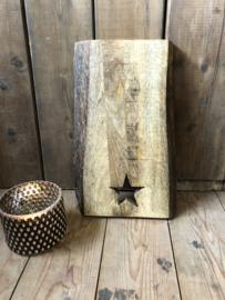 Houten plank met ster