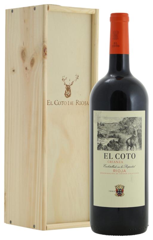 El Coto Rioja Crianza (magnum in houten kist)