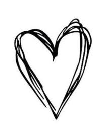 Hart in lijntjes