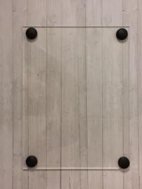 Deurbordje zwart / wit / transparant / RVS look
