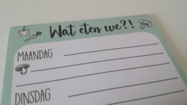 Notitieblokje Wat eten we?