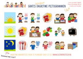 Gratis printable dagritme pictogrammen