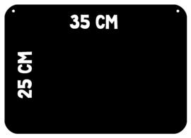 Magneetbord 25 x 35 cm | zwart