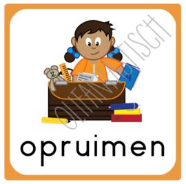 Opruimen (eigen spullen) | Dagplanning school