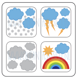 Magneetkaart | Het weer (2)