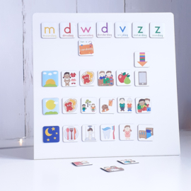 Magneetbord 25 x 25 cm | wit (staand)