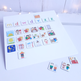 Magneetbord staand | wit