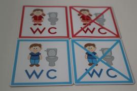 Magneten WC (school) 5x5 cm