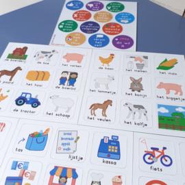 Woordkaarten Combideal (6 stuks)