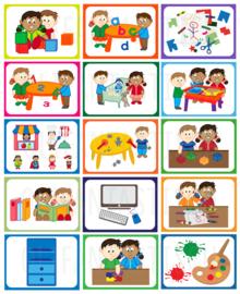 Set van 15 magneten voor kiesbord