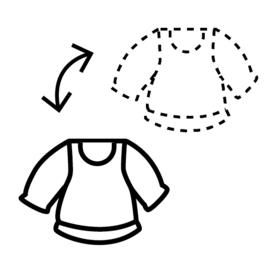Aan- en uitkleden | zwart-wit 4x4 cm
