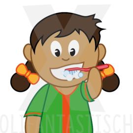 Hygiëne | Tanden poetsen (meisje)