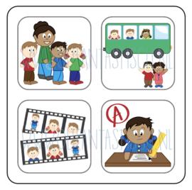 Magneetkaart | Avondvierdaagse/Schoolreis/Schoolfotograaf/Toets