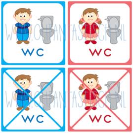 WC gebruik (5x5 cm)