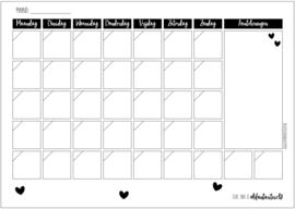 Maandplanner A3