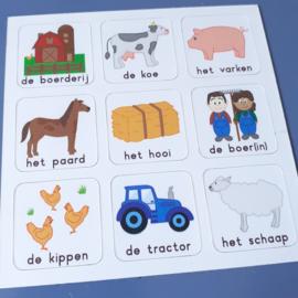 Woordkaart Boerderij (deel 1)