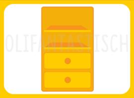 Magneet kiesbord   Kast geel