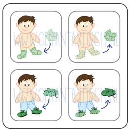Aan- en uitkleden jongen (2)