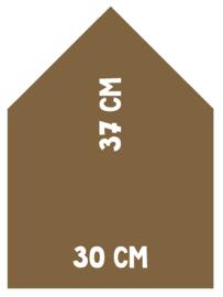 Magneetbord Huisje | Parelmoer goud