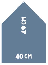 Magneetbord 40 x 49 cm | blauw (hangend)