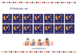 Gratis printable - Aftelkalender