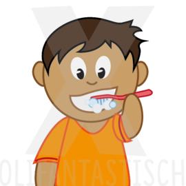 Hygiëne | Tanden poetsen (jongen)