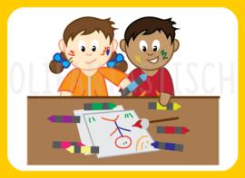 Magneet kiesbord   Tekenen/kleuren