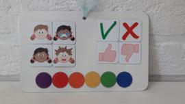 Magneetkaart | Emoties jongen