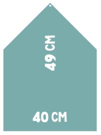 Magneetbord 40 x 49 cm | turquoise (hangend)