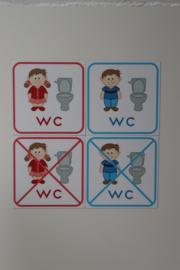 WC gebruik (school) 10x10 cm