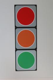 Magneten stoplicht 10x10 cm