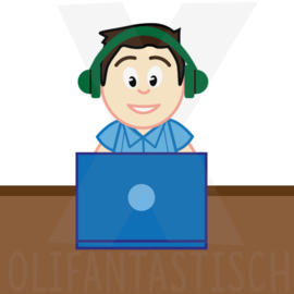 Familie | Papa werkt thuis (laptop)