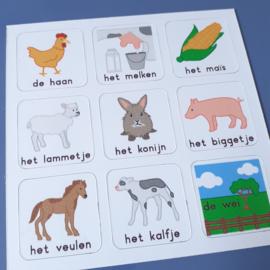 Woordkaart Boerderij (deel 2)