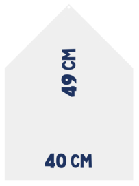 Magneetbord 40 x 49 cm | wit (hangend)