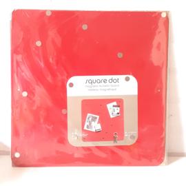 Magneetbord vierkant | rood