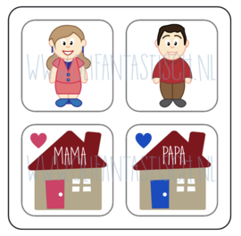 Magneetkaart | Papa & Mama (thuis)