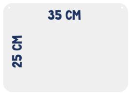 Magneetbord 25 x 35 cm | wit