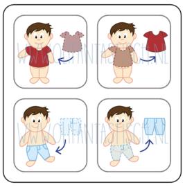 Aan- en uitkleden jongen (1)