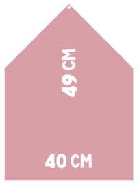 Magneetbord 40 x 49 cm | roze (hangend)