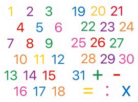 Cijfers 1 t/m 31 (dagen & rekenen)